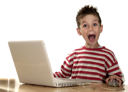 This kid just discovered internet porn.  SURPRISE!