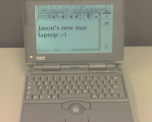 It was a laptop just like this.  It doubled as a weight loss machine.