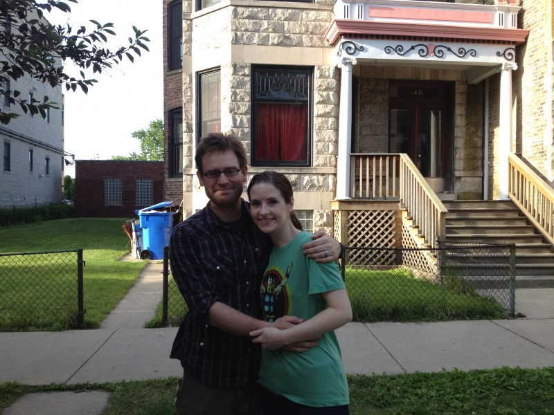Us and the home we had made in Chicago.