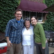My two favorite ladies: Grams Buchan and Megan.
