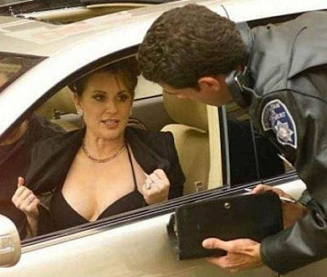 But officer, my boobs were driving.  I was busy putting on makeup and texting.
